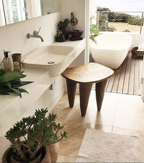afro chic, bath and decor