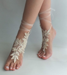 etsy, foot jewelry and beach shoes