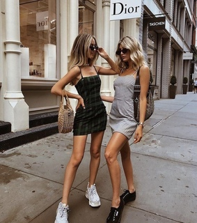 dress, sisters and blonde