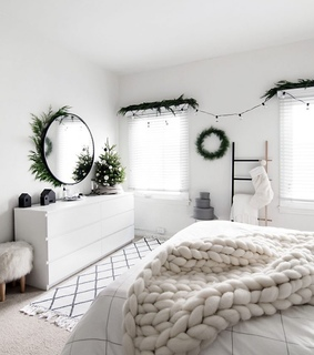 home, winter green and bedroom