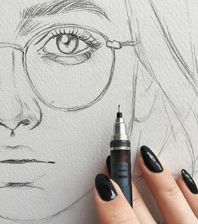 face, drawing and girl
