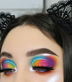 makeup, purple and colorful