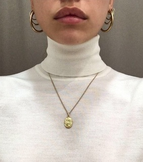 girl, white and layered necklace