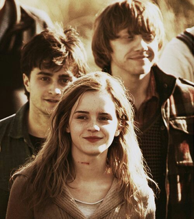 danielradcliffe, hermionegranger and ronweasley
