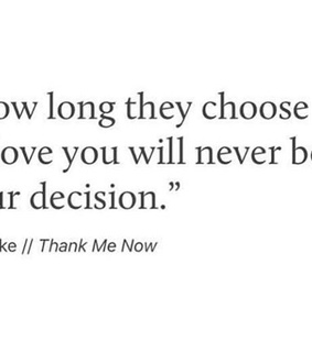 love, choose and break up