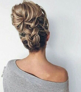 blonde, blonde hair and braided bun