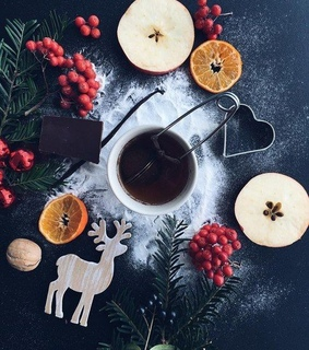 we heart it, christmas cookies and drink