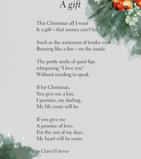 winter, poetry and friendship