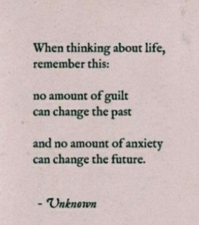 guilt, future and life