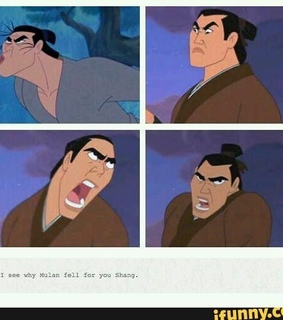 humour, comedy and mulan