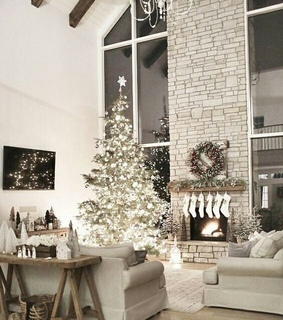 cozy, fireplace and festive
