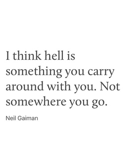neil gaiman, depressing and life