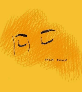 eyes, doodles and yellow