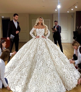 fashion, white and ball gown