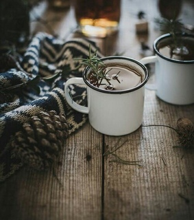 winter, herbs and decor