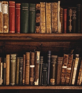old, vintage and library