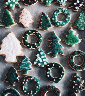 snow, christmas cookies and yummy