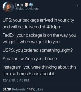 delivery, lol and fedex