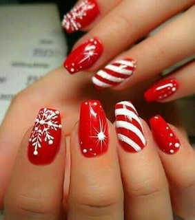 red, girly and nails