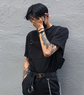 edgy, black and guy