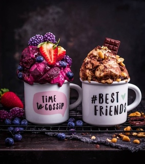 we heart it, ice cream and drink