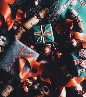wrapping, winter and food