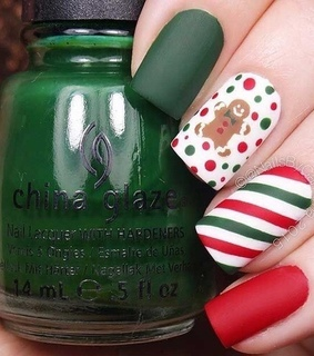 nail polish, green and gingerbread