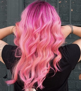 hair color, goals and pink
