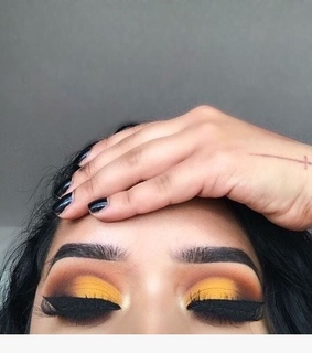 yellow, eyebrows and woman