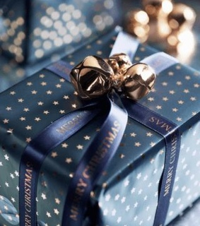 package, holiday and christmas
