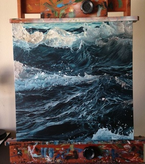 blue color, art and water