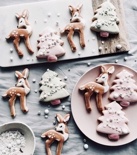 bambi, christmas cookies and xmas