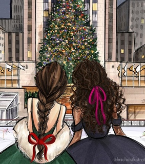 christmas tree, friends and hair