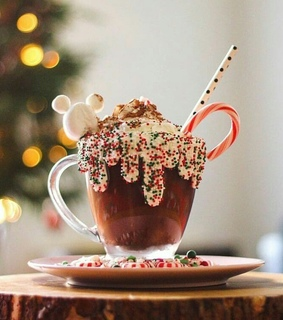 xmas, hot cocoa and joy