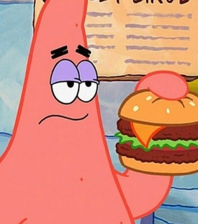 yummy, burger and the krusty krabs