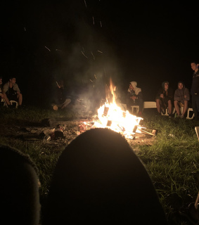 fire, old days and friends