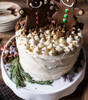 cake, food and christmas