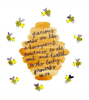 bible verse, god and bees