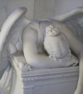angel, sad and architecture