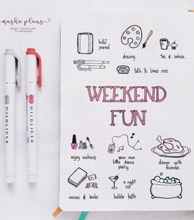 planner, weekend and to do