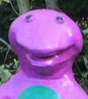 barney, reaction pic and trippy