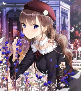 flowers, pixiv and anime girl