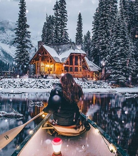 british columbia, snow and emerald lake