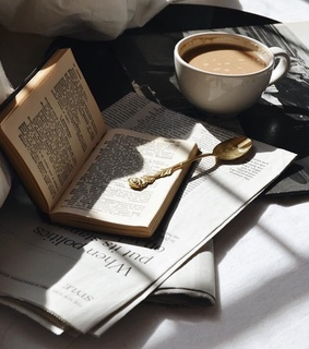 morning inspo, books and coffee