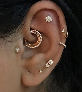 placement, earrings and helix