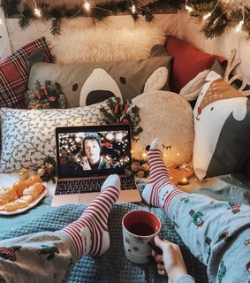 happiness, christmas and cozy