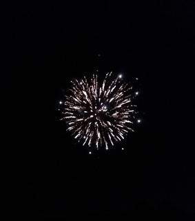 black and white, firework and spark