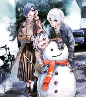 manga, touka and kaneki