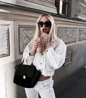 chic, blonde hair and jewellry