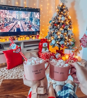happiness, xmas and cozy